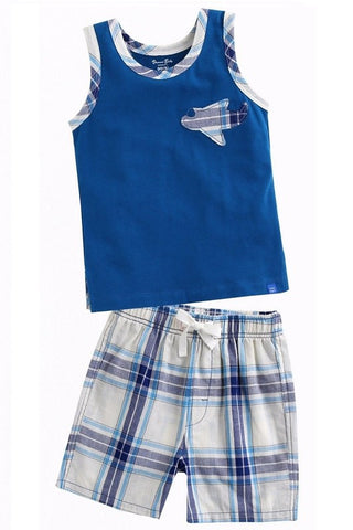 Sleeveless Airplane Top & Shorts Set