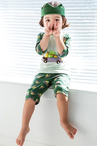 Vroom Crocodile Short Sleeve Pajama Set