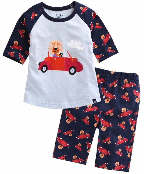 Vroom Lion Short Sleeve Pajama Set