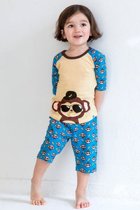 Monkey Short Sleeve Pajama Set