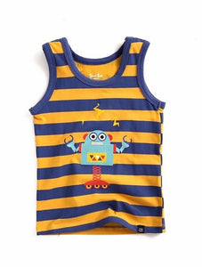 Robot Stripe Sleeveless Tank Top