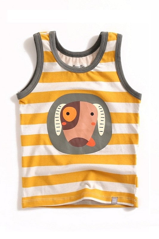 Yellow Dog Sleeveless Tank Top