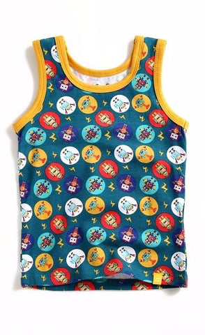 Multi Robot Sleeveless Tank Top