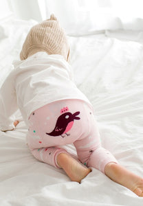 Light Pink Bird Leggings