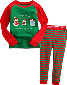 Snowman Long Sleeve Pajama Set