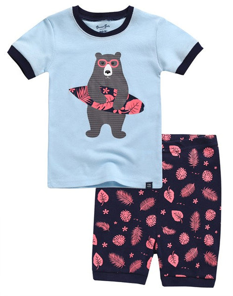 Surfer Bear Short Sleeve Pajama Set