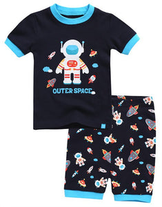 Space Boy Short Sleeve Pajama Set