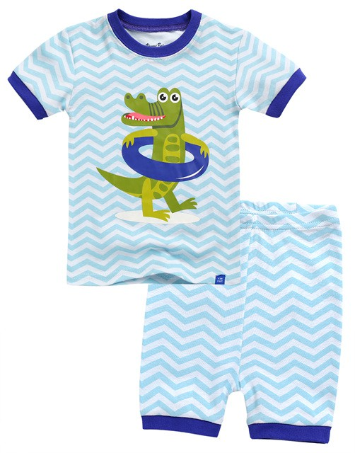 Gator Floaty Short Sleeve Pajama Set