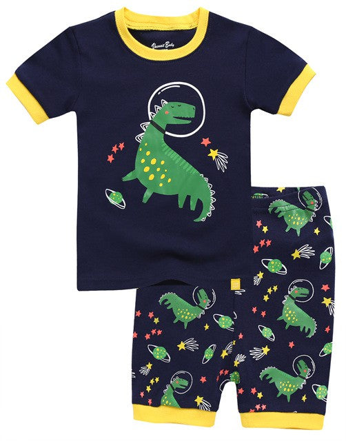 Space Dino Short Sleeve Pajama Set