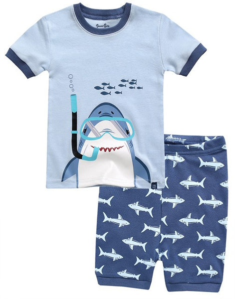 Scuba Shark Short Sleeve Pajama Set