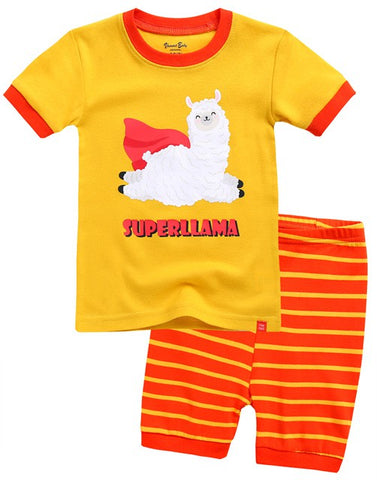 Super Llama Short Sleeve Pajama Set