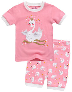 Swan Princess Short Sleeve Pajama Set