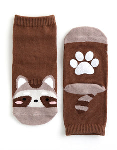 Raccoon Ankle Socks