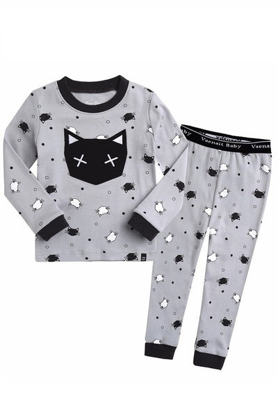 Swing Cat Long Sleeve Pajama Set