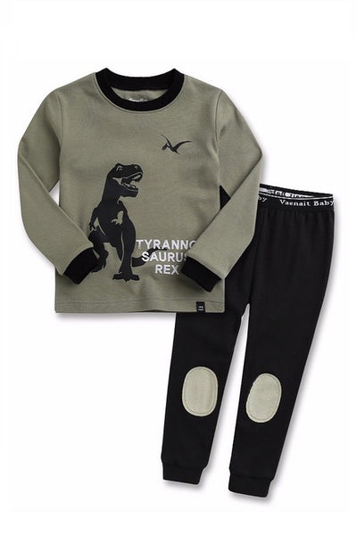 Dinosaur Rex Long Sleeve Pajama Set