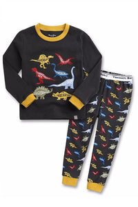 Multi Dinosaur Long Sleeve Pajama Set
