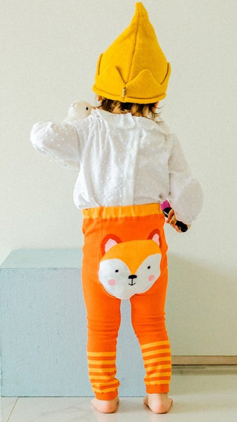 Orange Foxy Leggings