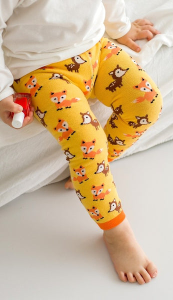 Buddy Fox Yellow Leggings
