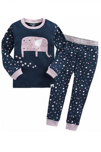 Humming Elephant Long Sleeve Pajama Set
