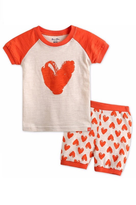 Heart Print Pajama Set