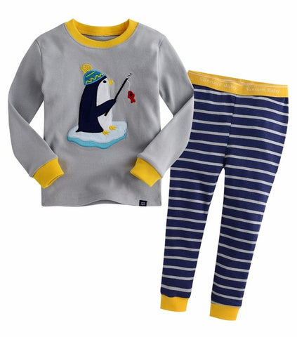 Fishing Penguin Long Sleeve Pajama Set