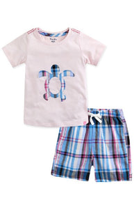 Turtle Tee & Pattern Shorts Set