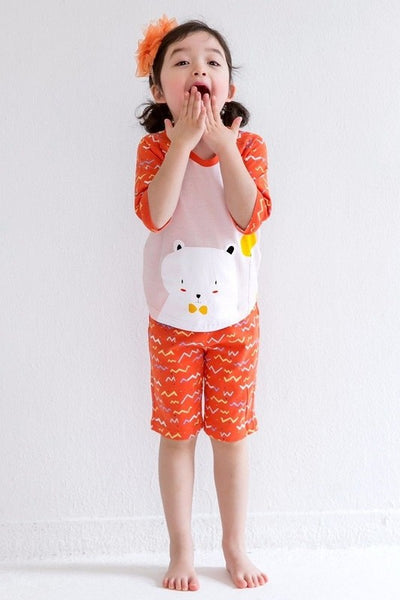 Happy Bear Short Sleeve Pajama Set