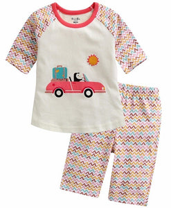 Vroom Penguin Short Sleeve Pajama Set