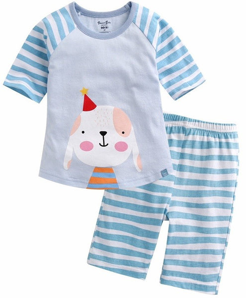 Birthday Doggy Short Sleeve Pajama Set