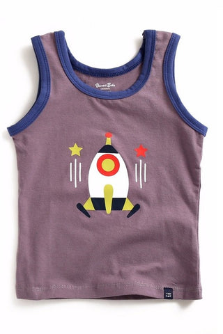 Rocket Ship Sleeveless Tank Top
