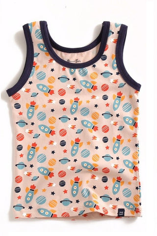 Multi Rocket Ship Sleeveless Tank Top
