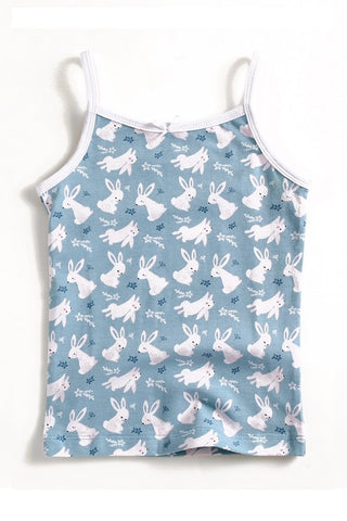 Bunny Pattern Sleeveless Tank Top