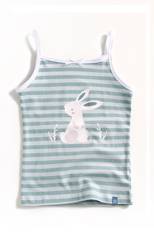 Bunny Stripe Sleeveless Tank Top