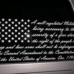 2nd Amendment Flag Decal