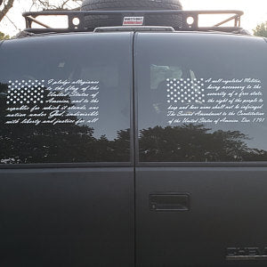 2nd Amendment & Pledge of Allegiance Flag Decals