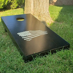 Distressed American Flag Cornhole Board Decal