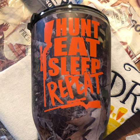 Hunt Eat Sleep Repeat Decal