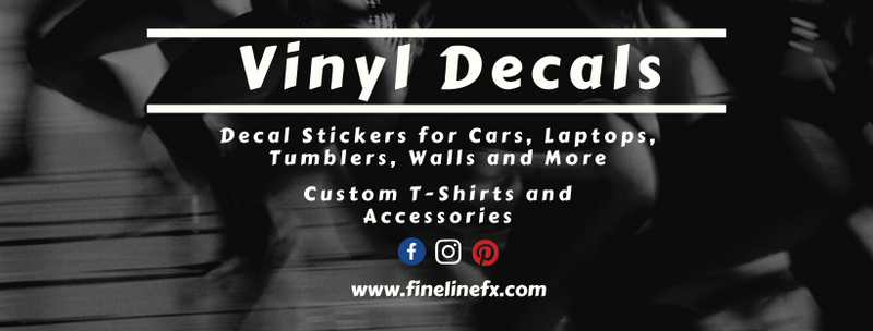 FinelineFX - Vinyl Decals Car Stickers / Decals for Cars, Laptops, Tumblers, Walls and More