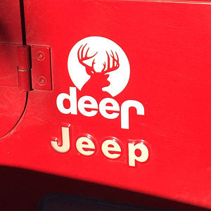 Jeep Deer Decal