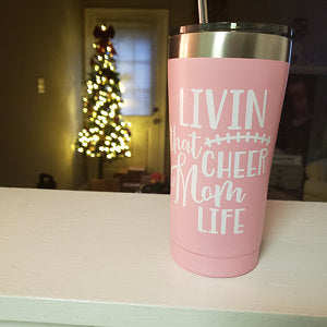 Living That Cheer Mom Life Tumbler Decal