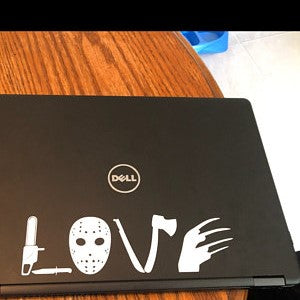 Love Horror Movies Laptop Decal
