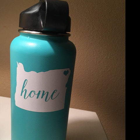 Oregon Home Hydroflask Decal