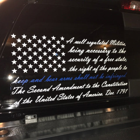 2nd Amendment Flag with Thin Blue Line Decal