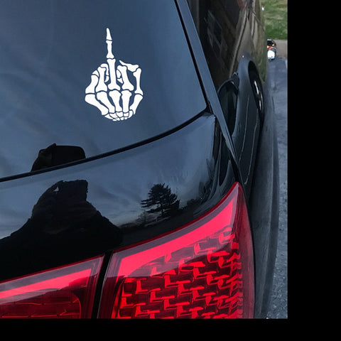 Skeleton Middle Finger Decal