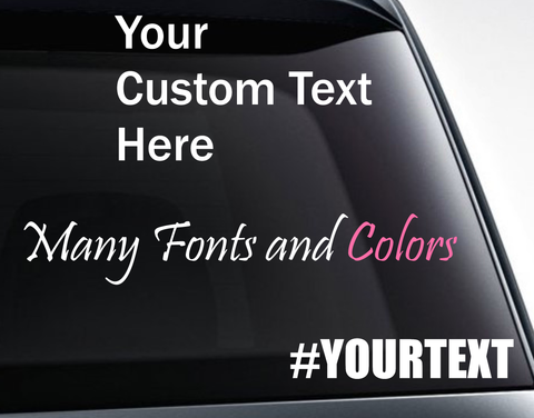 Custom Text Decals SUV Window - FineLineFX