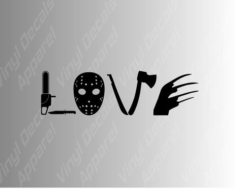 Love Horror Movies Vinyl Decal Sticker