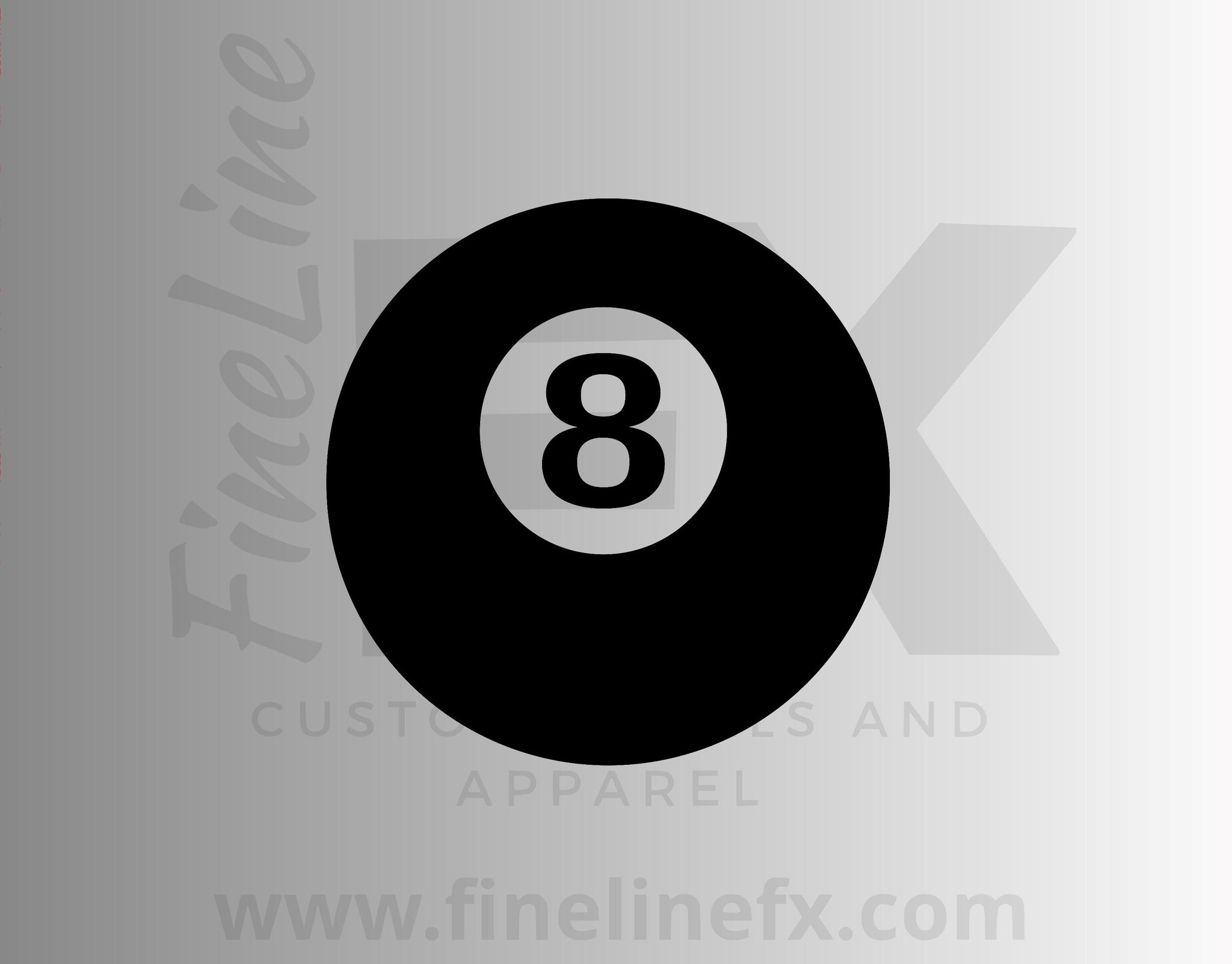 8 Ball Billiards Pool Ball Vinyl Decal Sticker