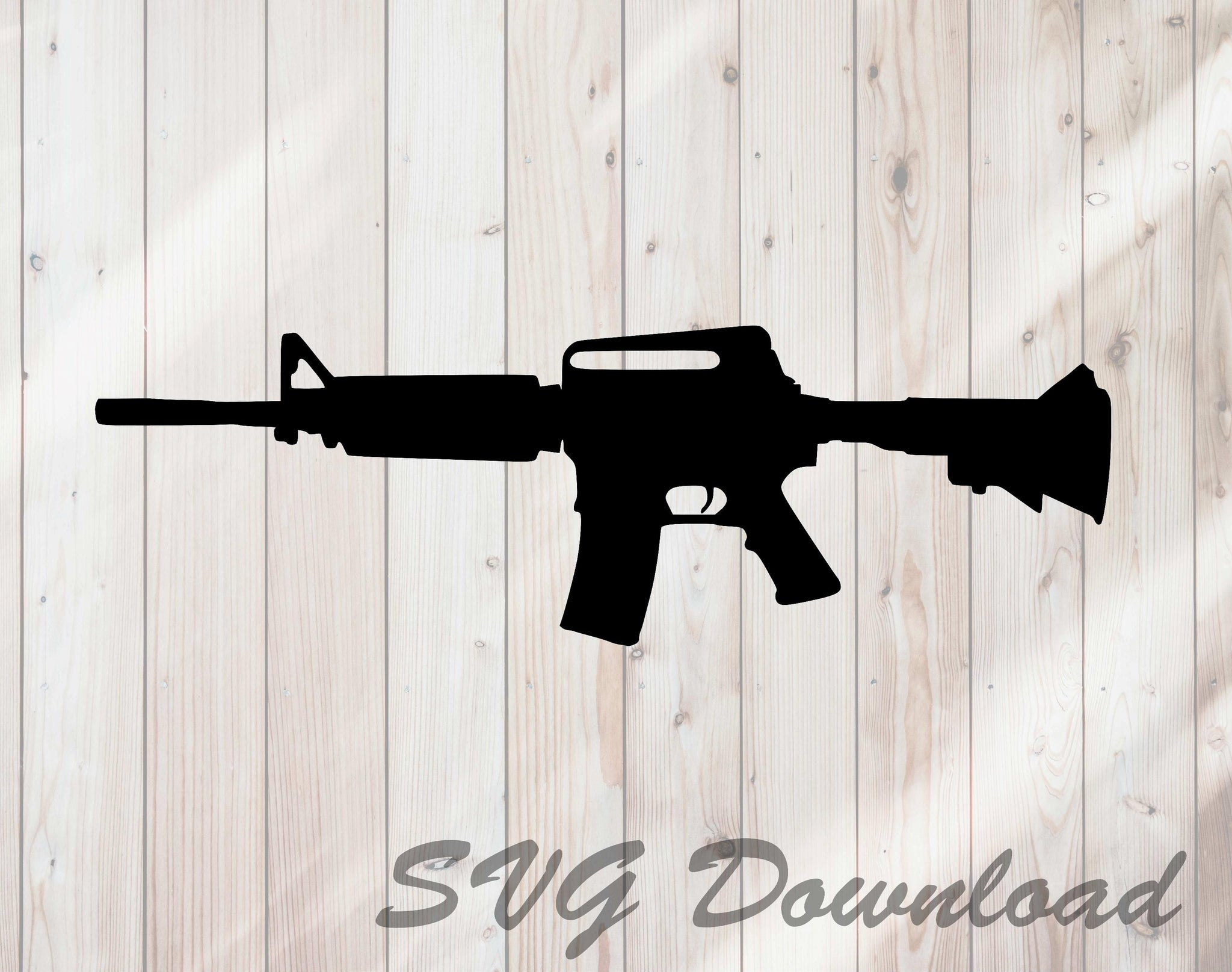 AR15 Semi Automatic Rifle SVG Craft Cutting File Instant Download
