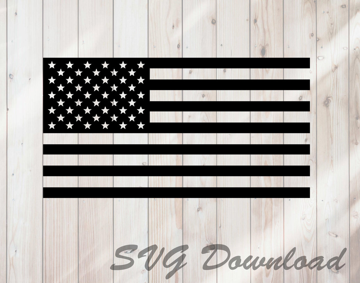 United States American Flag Svg Craft Cutting File Instant