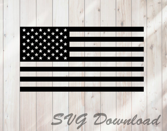 United States American Flag SVG Craft Cutting File Instant Download - FineLineFX